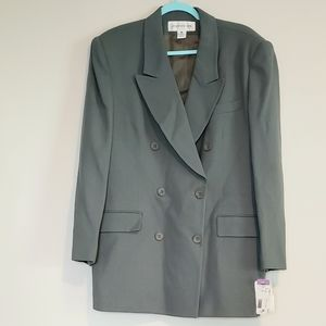 NWT JONES NEW YORK WOOL DOUBLE BREASTED JACKET 16